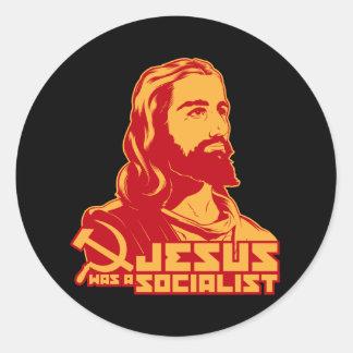 Jesús era un socialista etiqueta redonda