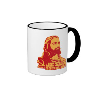 Jesús era un socialista taza a dos colores