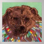 Jesús era una impresión del oso poster