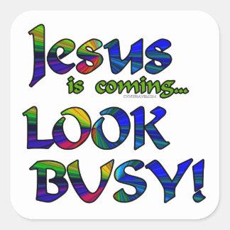 Jesús es… 2 que vienen pegatina cuadradas