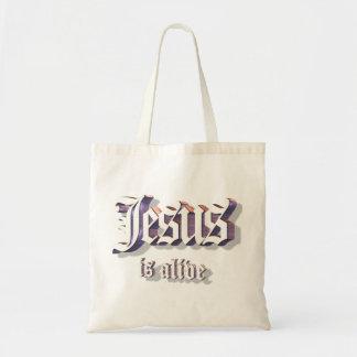 Jesús es 3D vivo Bolsas