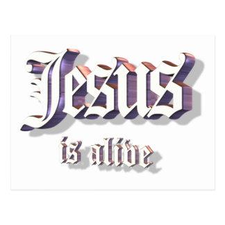 Jesús es 3D vivo Postal