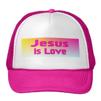Jesús es amor gorras