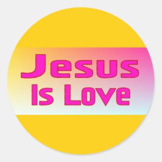 Jesús es amor pegatinas redondas