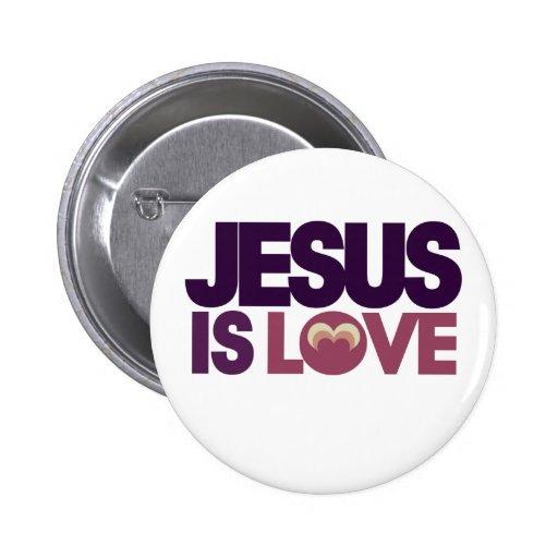 Jesús es amor pin redondo 5 cm