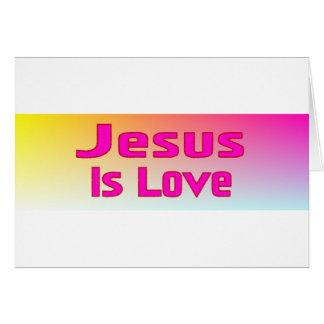 Jesús es amor tarjeta
