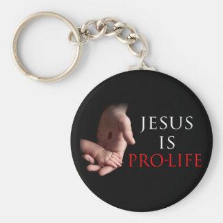Jesús es antiabortista llavero redondo tipo pin