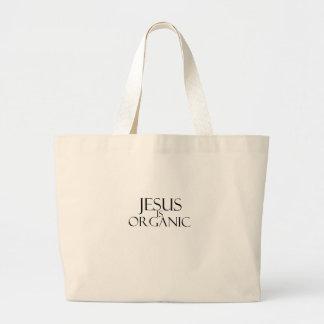 Jesús es bolso orgánico bolsa tela grande