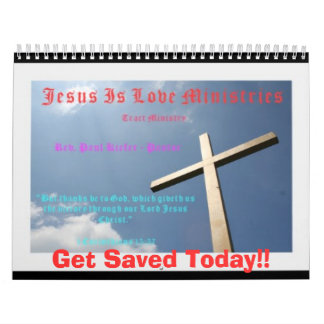 Jesús es calendario del logotipo de los