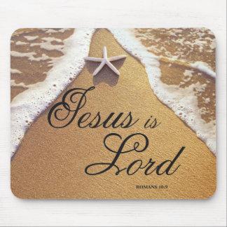 Jesús es cojín del señor ratón tapete de raton