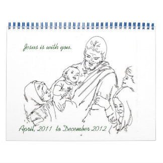 Jesús es con usted abril de 2011 a diciembre de calendarios de pared