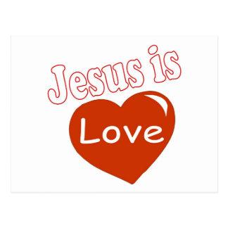 Jesús es diseño del corazón del amor postal