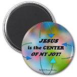 JESÚS ES EL CENTRO DE MI ALEGRÍA IMÁN DE FRIGORÍFICO