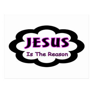 Jesús es el decir cristiano de la razón postales