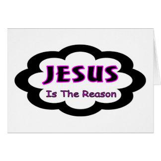 Jesús es el decir cristiano de la razón tarjetón