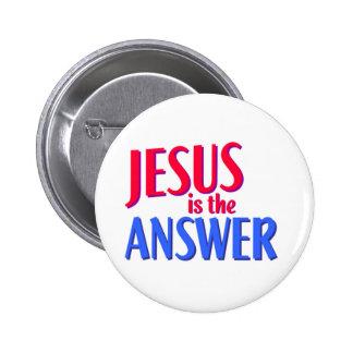 Jesús es el diseño cristiano del regalo de la pin redondo de 2 pulgadas