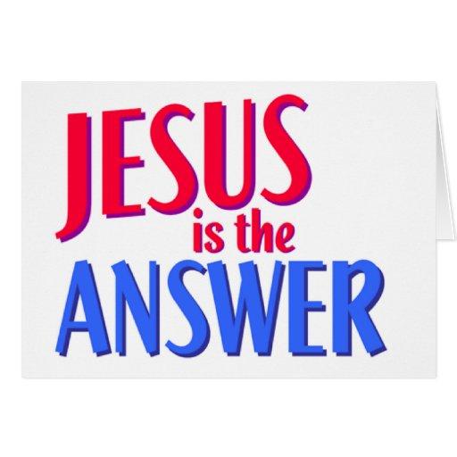 Jesús es el diseño cristiano del regalo de la resp tarjeta de felicitación