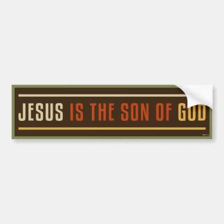 Jesús es el hijo de dios etiqueta de parachoque