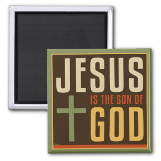 Jesús es el hijo de dios imán cuadrado