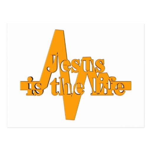 Jesús es el naranja de la vida tarjetas postales
