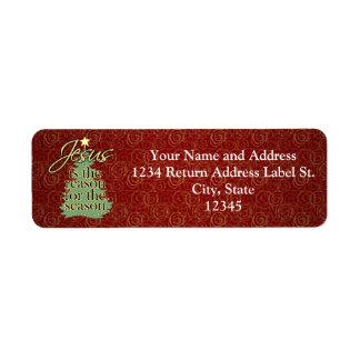 Jesús es el navidad del cristiano de la razón etiquetas de remite