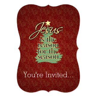 Jesús es el navidad del cristiano de la razón invitaciones personales