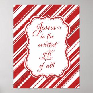 Jesús es el regalo más dulce de todo el poster del