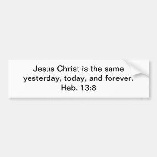 Jesús es eterno pegatina para auto