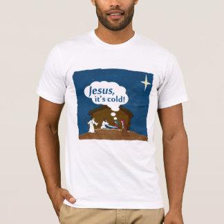 ¡Jesús, es frío!  Camiseta del humor del navidad