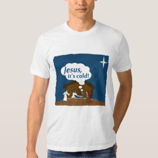 ¡Jesús, es frío!  Camiseta del humor del navidad Remeras