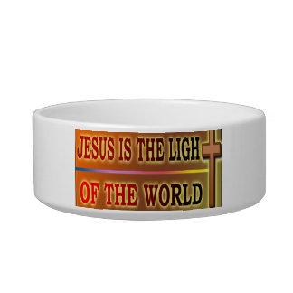 JESÚS ES LA LUZ COMEDERO PARA MASCOTA
