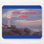 ¡Jesús es la luz del mundo! Alfombrilla De Raton