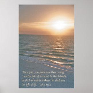 Jesús es la luz del mundo póster