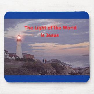 ¡Jesús es la luz del mundo! Tapete De Ratones