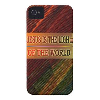 JESÚS ES LA LUZ iPhone 4 CÁRCASA