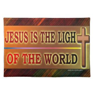 JESÚS ES LA LUZ MANTELES INDIVIDUALES