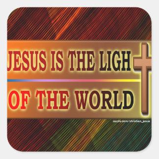 JESÚS ES LA LUZ CALCOMANÍAS CUADRADASES