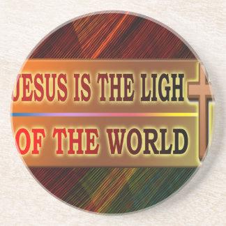 JESÚS ES LA LUZ POSAVASO PARA BEBIDA