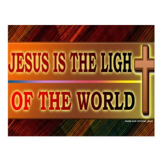 JESÚS ES LA LUZ TARJETA POSTAL