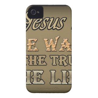 Jesús es la manera la verdad iPhone 4 carcasas