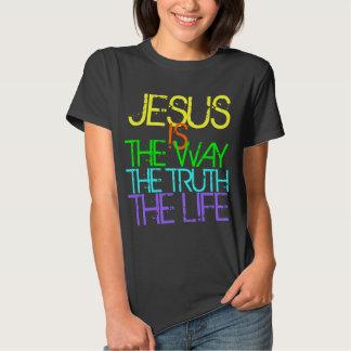 Jesús es la manera, la verdad, la camiseta del remera