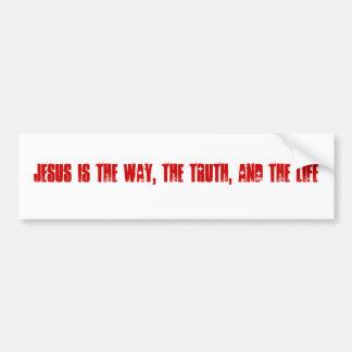 Jesús es la manera, la verdad, y la vida pegatina para auto
