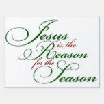 Jesús es la muestra de la yarda de la razón