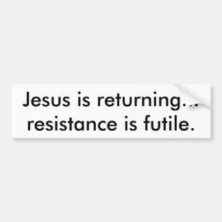 Jesús es la pegatina para el parachoques que viene