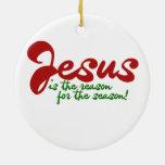 Jesús es la razón de la estación adorno de navidad