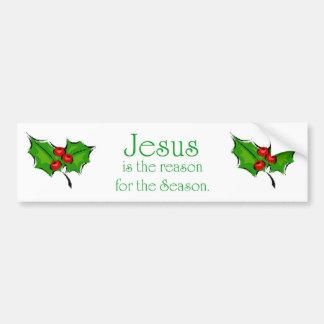 Jesús es la razón de la estación etiqueta de parachoque