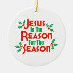 Jesús es la razón de la estación ornamento de navidad