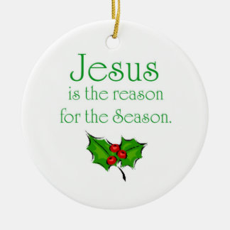 Jesús es la razón de la estación adorno redondo de cerámica