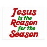 Jesús es la razón de la estación del navidad postales