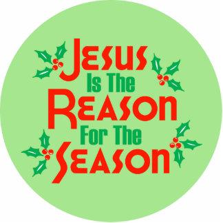 Jesús es la razón de la estación escultura fotografica
